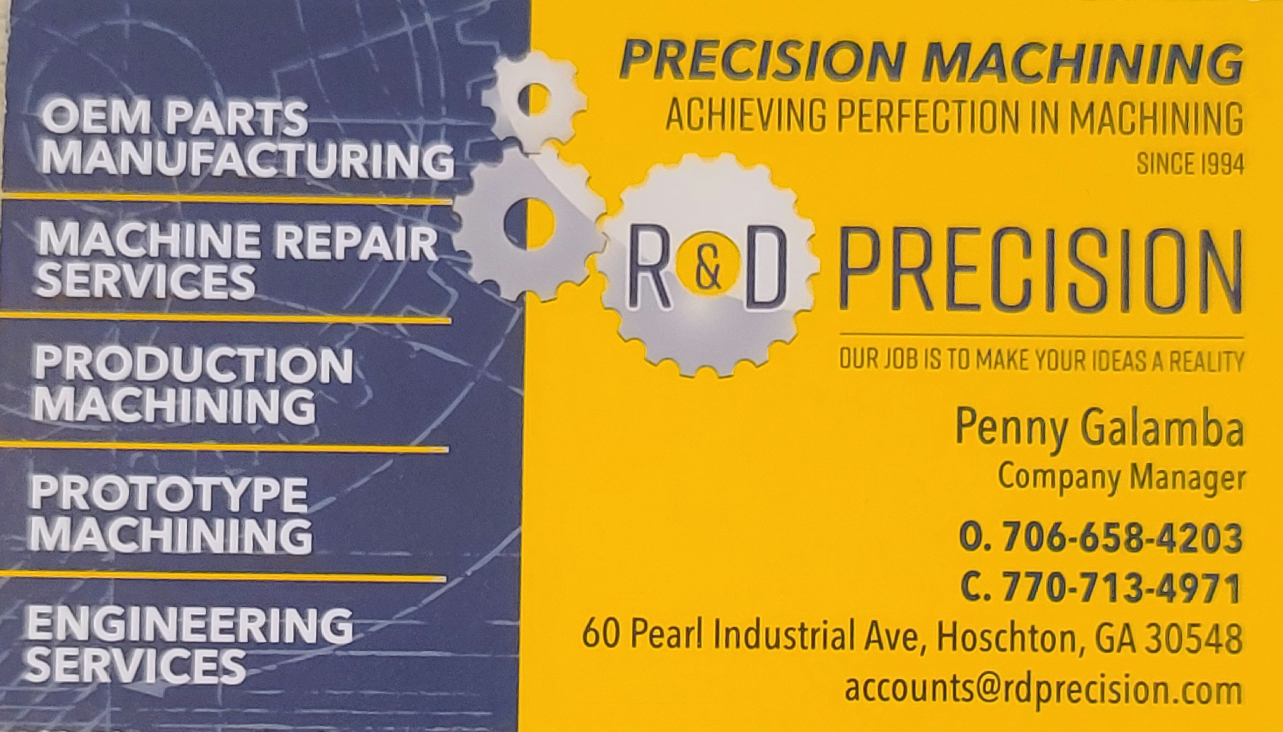 R & D Precision Machining
