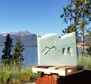 Rocky Mountain Fir Soap with Lake Dillon in the Background