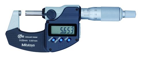 Digital Micrometer IP65 0-25mm, w/o Output 293-240