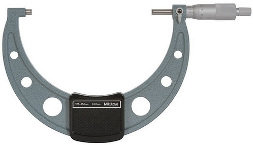 Mitutoyo 125-150 mm Outside Micrometer 103-142, 0.01 mm