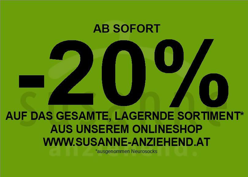 -20% auf alles aus dem Onlineshop