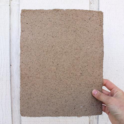 Handmade Paper: Horse Manure
