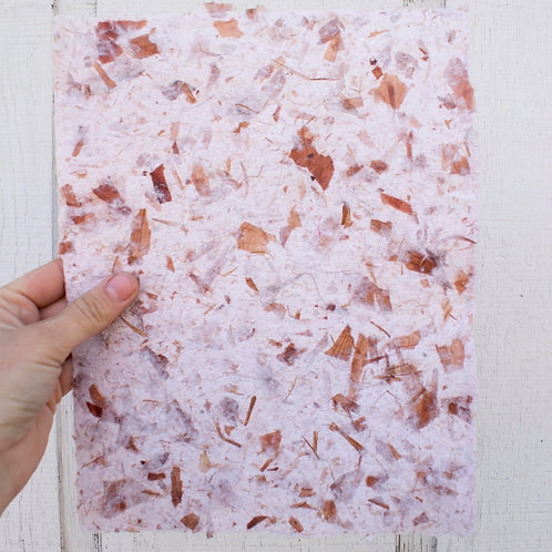 Handmade Paper: Cotton with Onion Skins