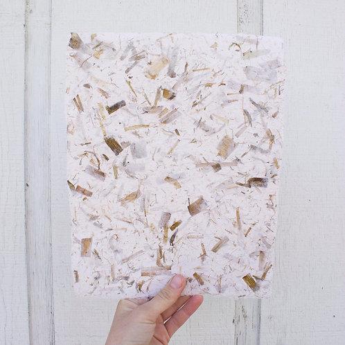 Handmade Paper: Cotton with Corn Husks
