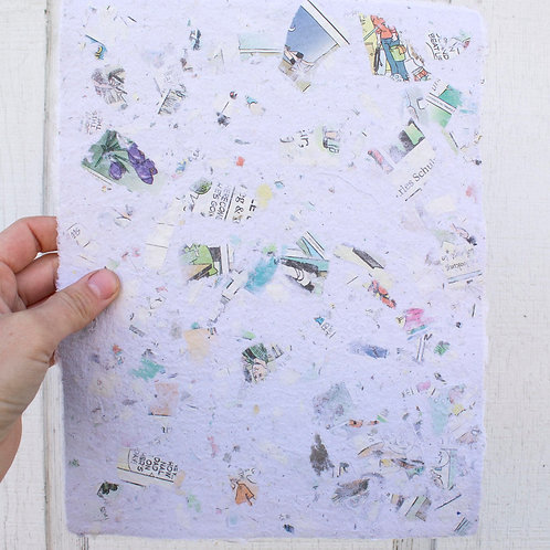 Handmade Paper: Recycled Comics