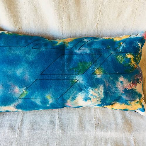 Original Painting Blue Pillow Cover