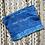 Thumbnail: Indigo Hand Dyed Zipper Pouch