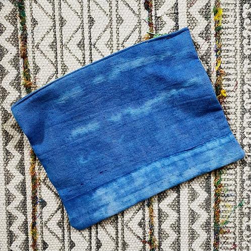 Indigo Hand Dyed Zipper Pouch