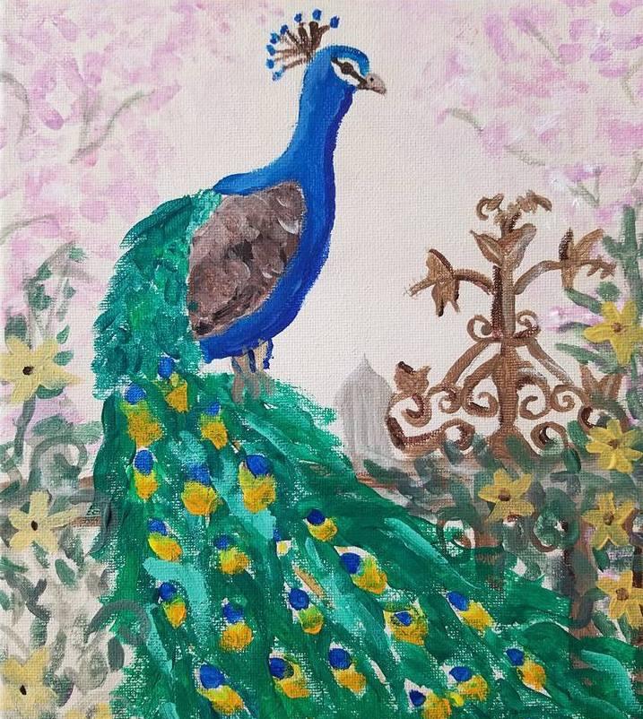 Peacock Art -Age 10