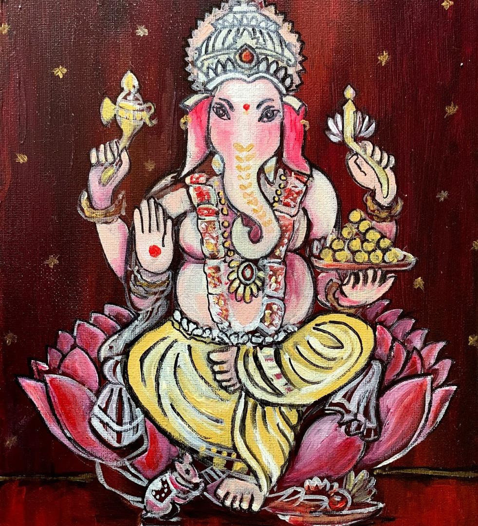 Lotus Throne Ganesha