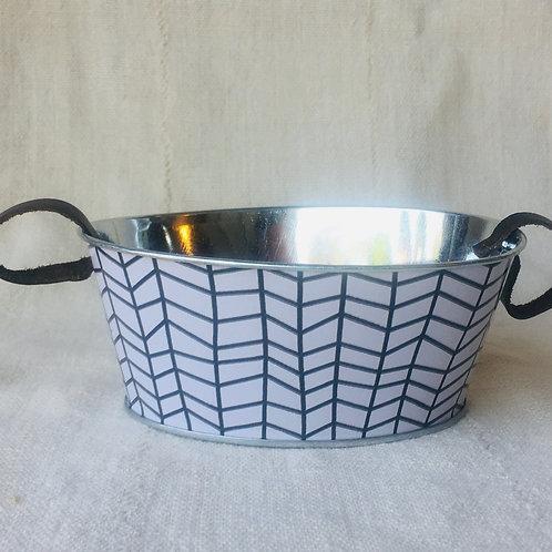 Large Oval Tin Planter