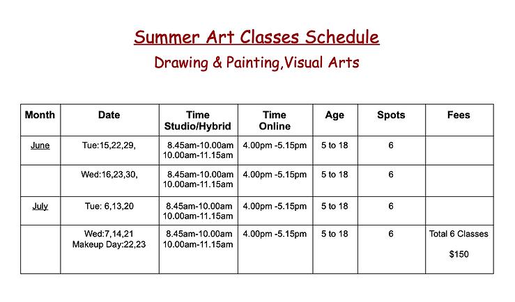 Summer art classes 2021' - Google Docs.p