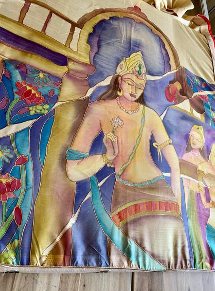 Bodhisattva Ajanta On Silk