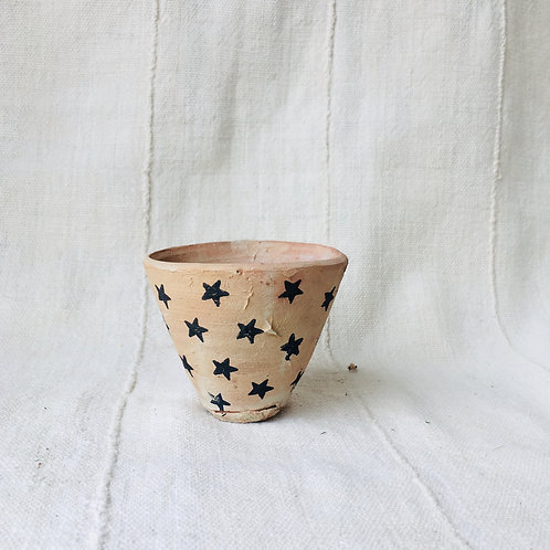 Star Studded Clay Mini Pot