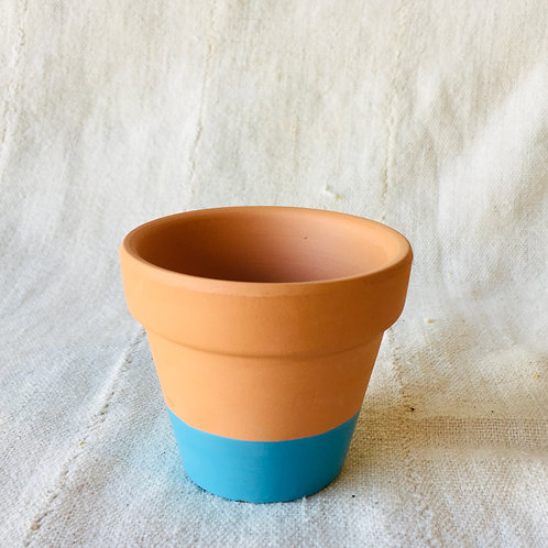 Blue Hand Dipped Small Pot