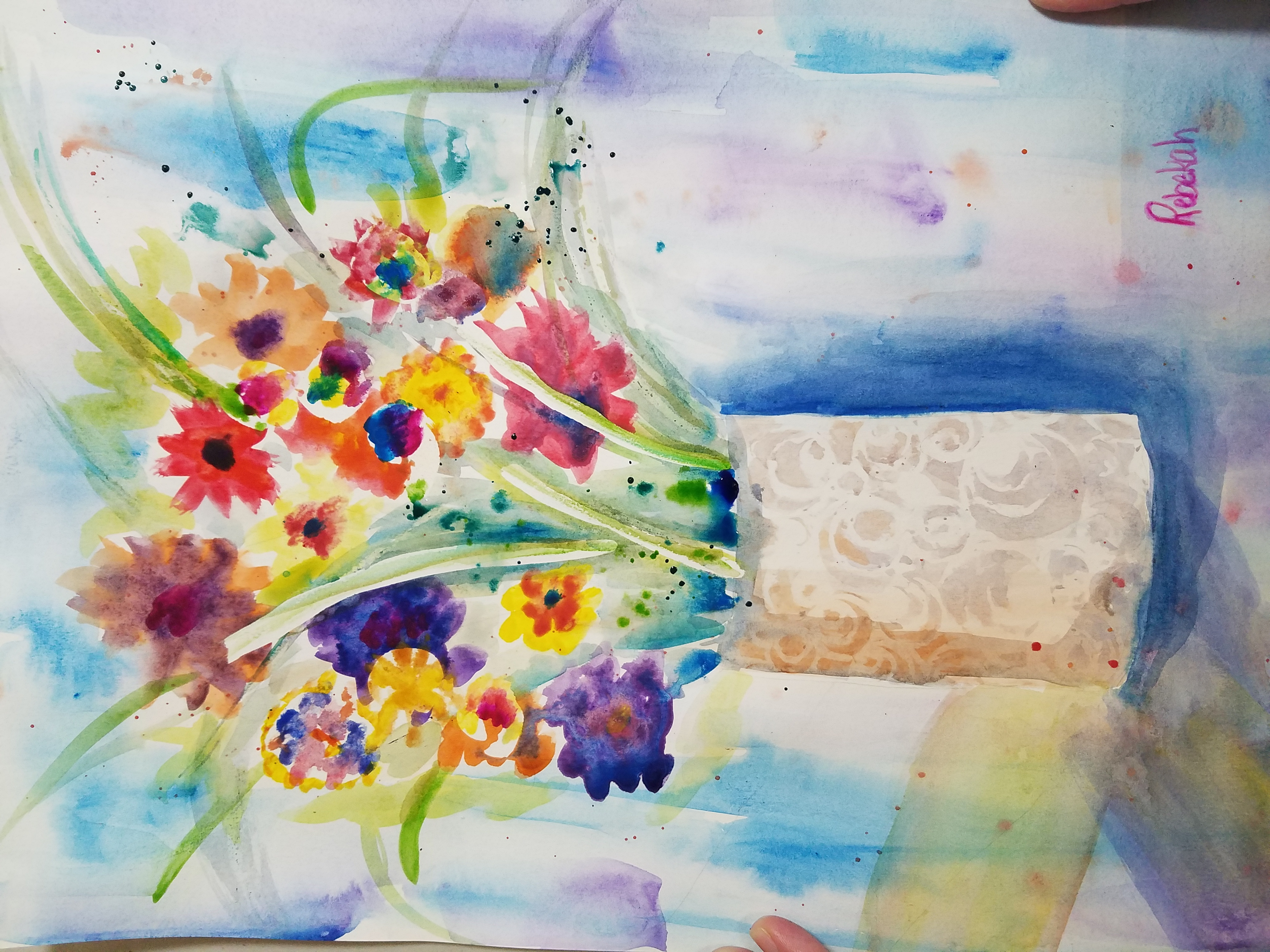 Watercolor Floral Expression- Adult