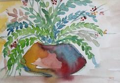 Vase & Fern