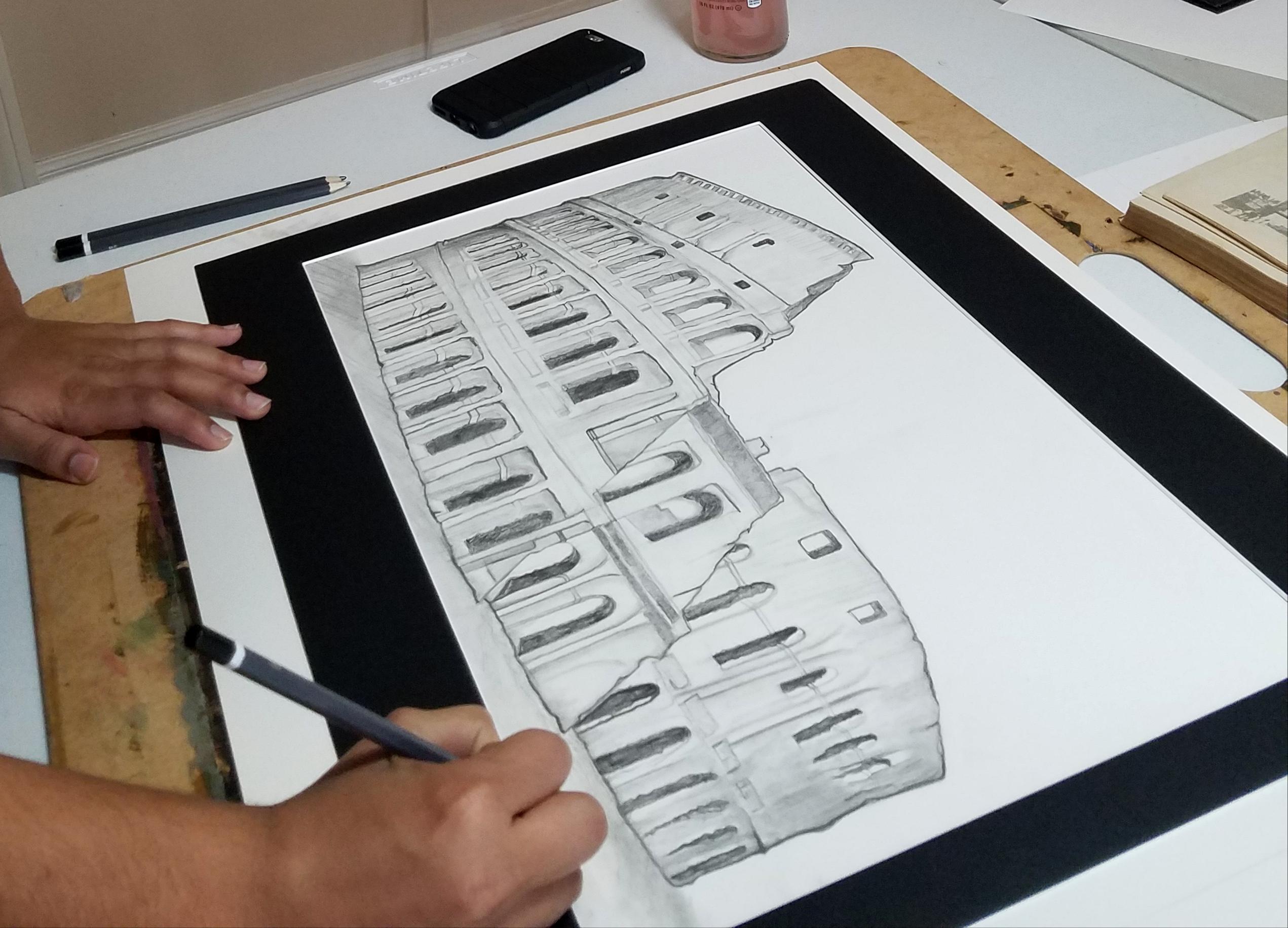 Graphite Architecture Art- Teen