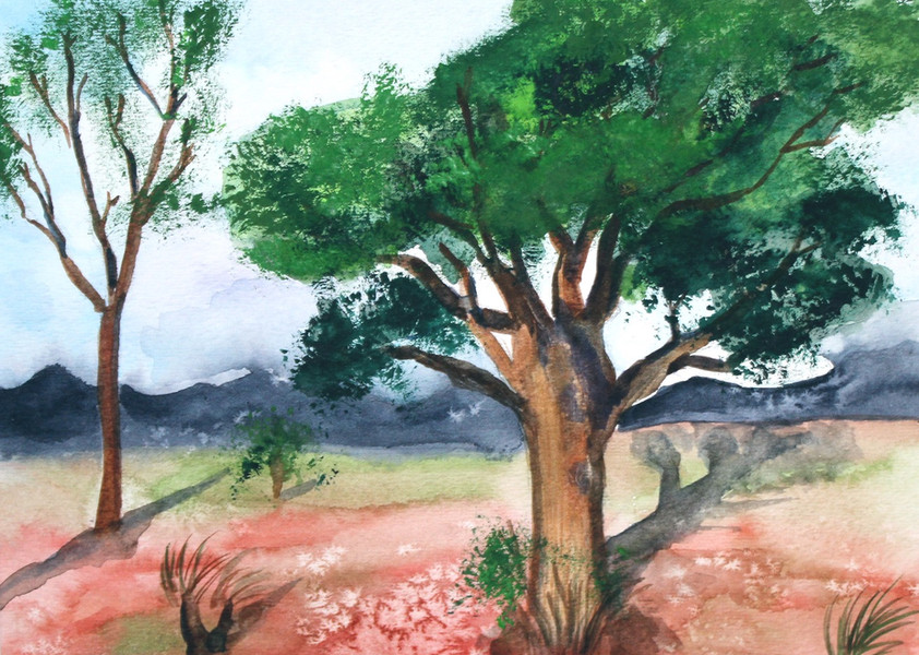 Two Trees Landscape