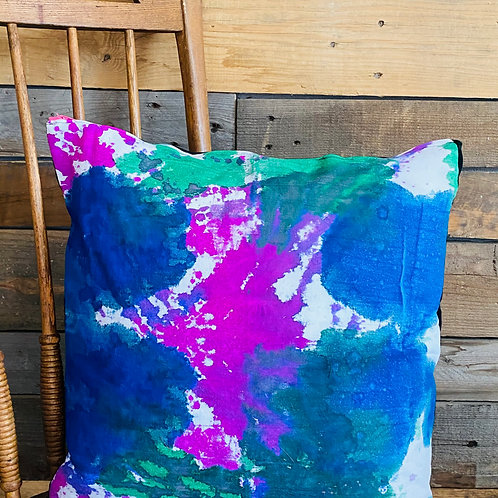 Pink Zipper Painting Pillow
