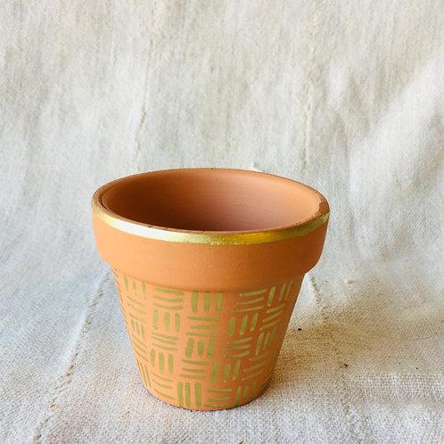 Gold Design Small Pot