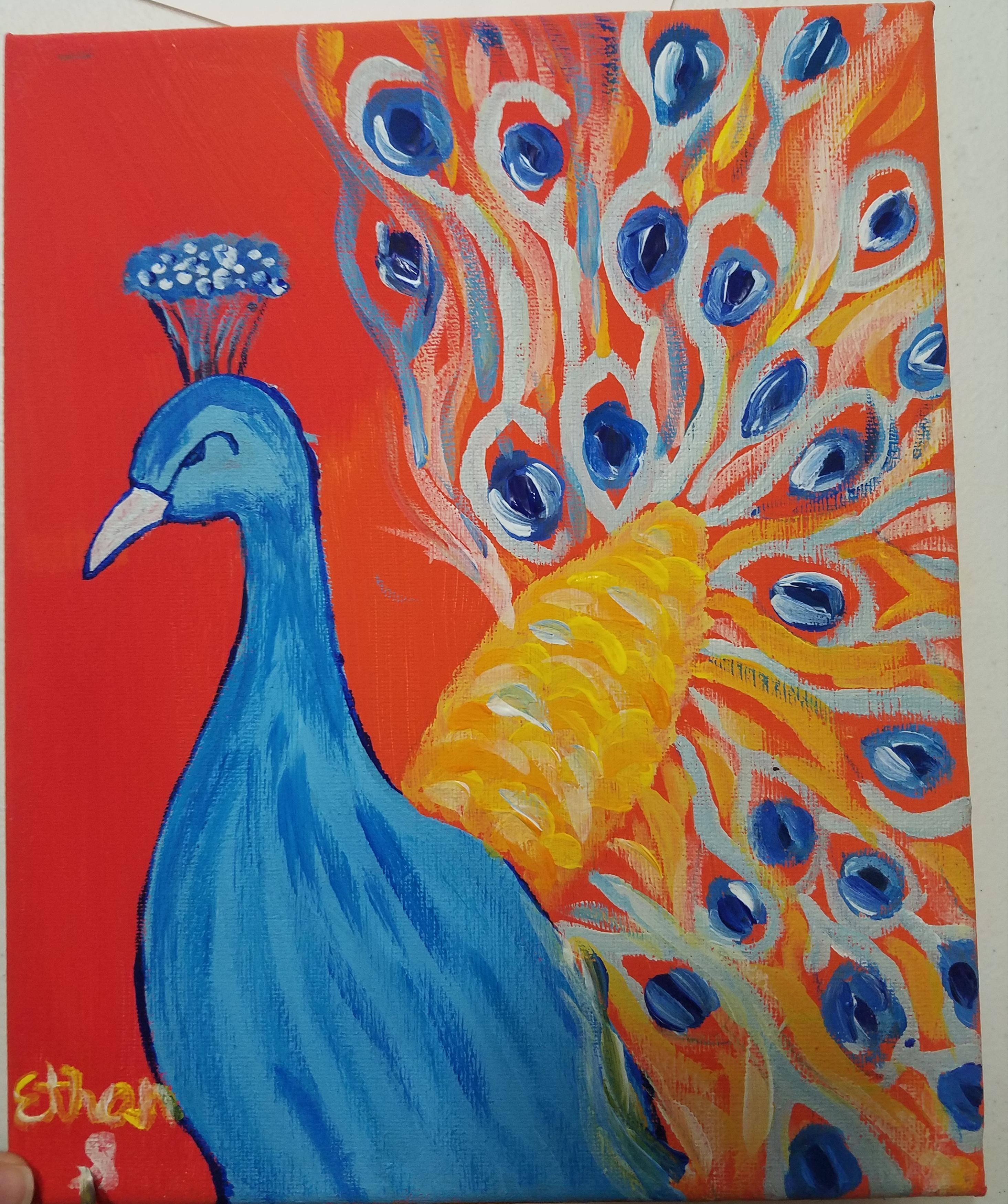 Acrylic On Canvas- Age 12