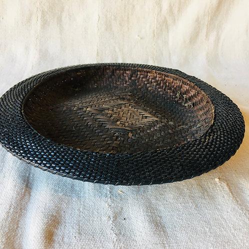 Shallow Black Rimmed Basket