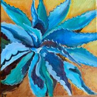 Texas Agave In Oil