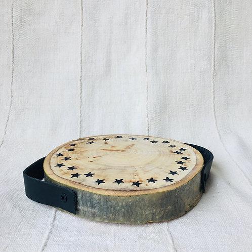 Star Leather Handled Wood Trivot