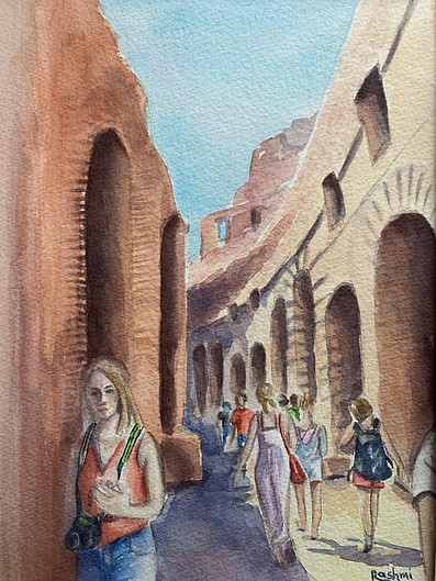 A Walk In Roman Colosseum
