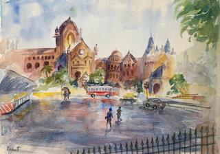 Rainy Day At The Fort, Mumbai