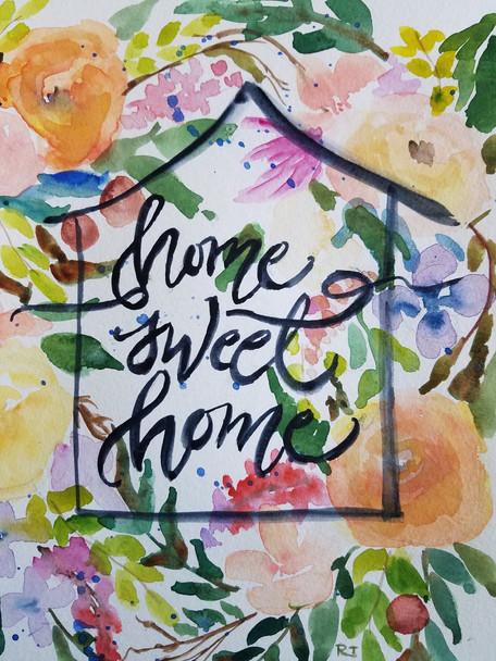 Home Sweet Home Calligraphic Botanicals