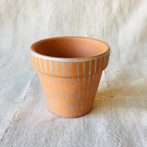 Silver Design Small Pot