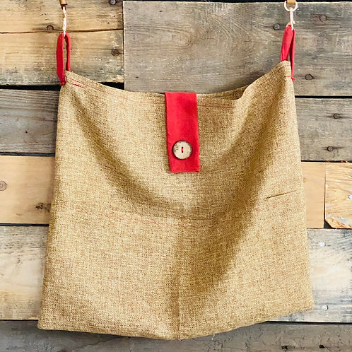 Red Corduroy Pillow Tote