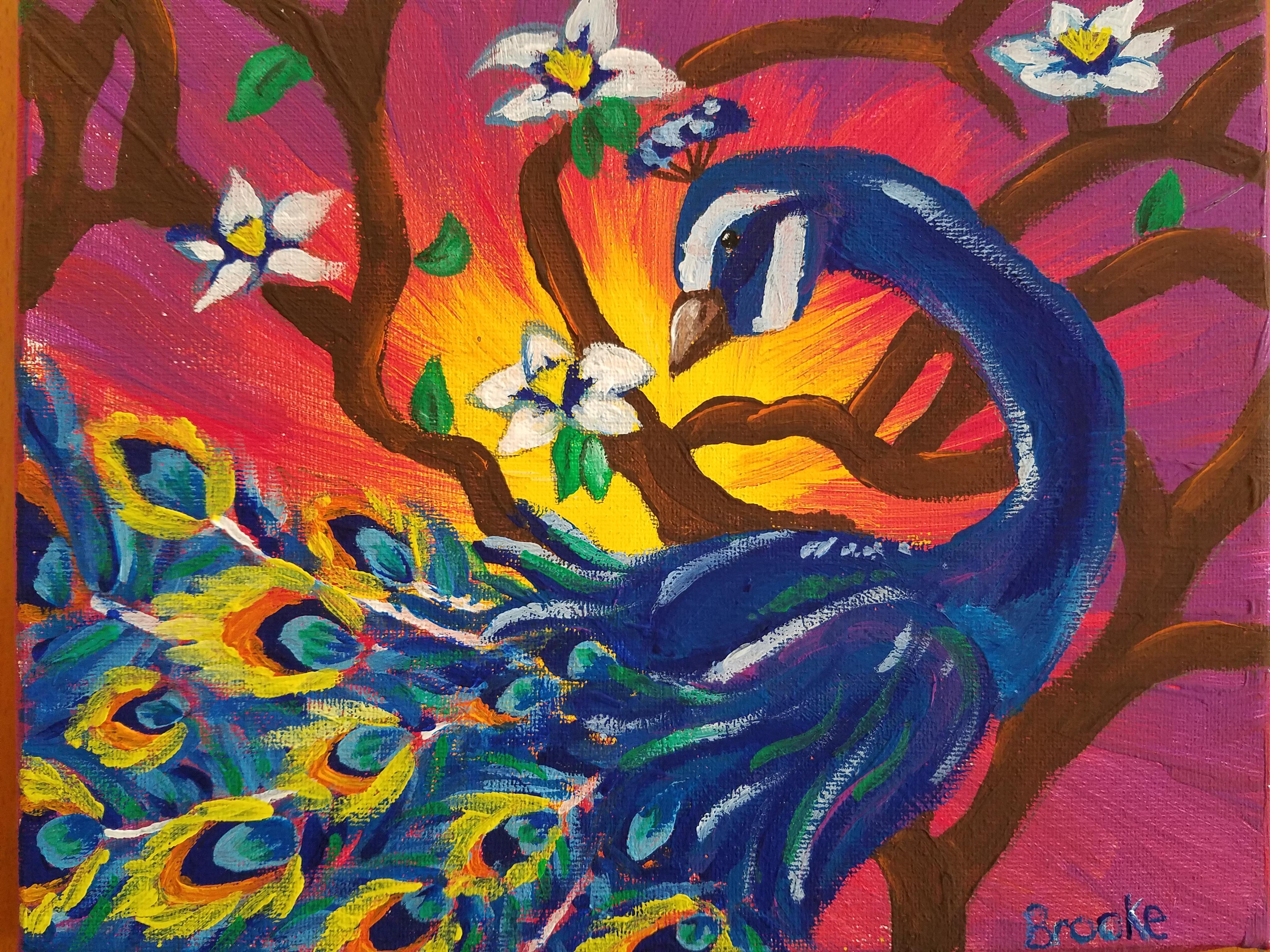 Peacock Art - Age 10