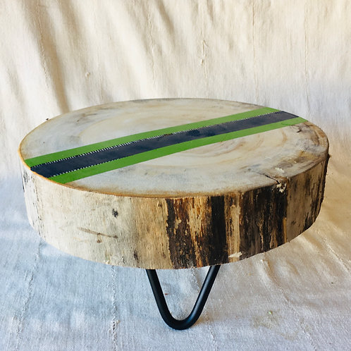 Striped Wood Hair Pin Plant Stand
