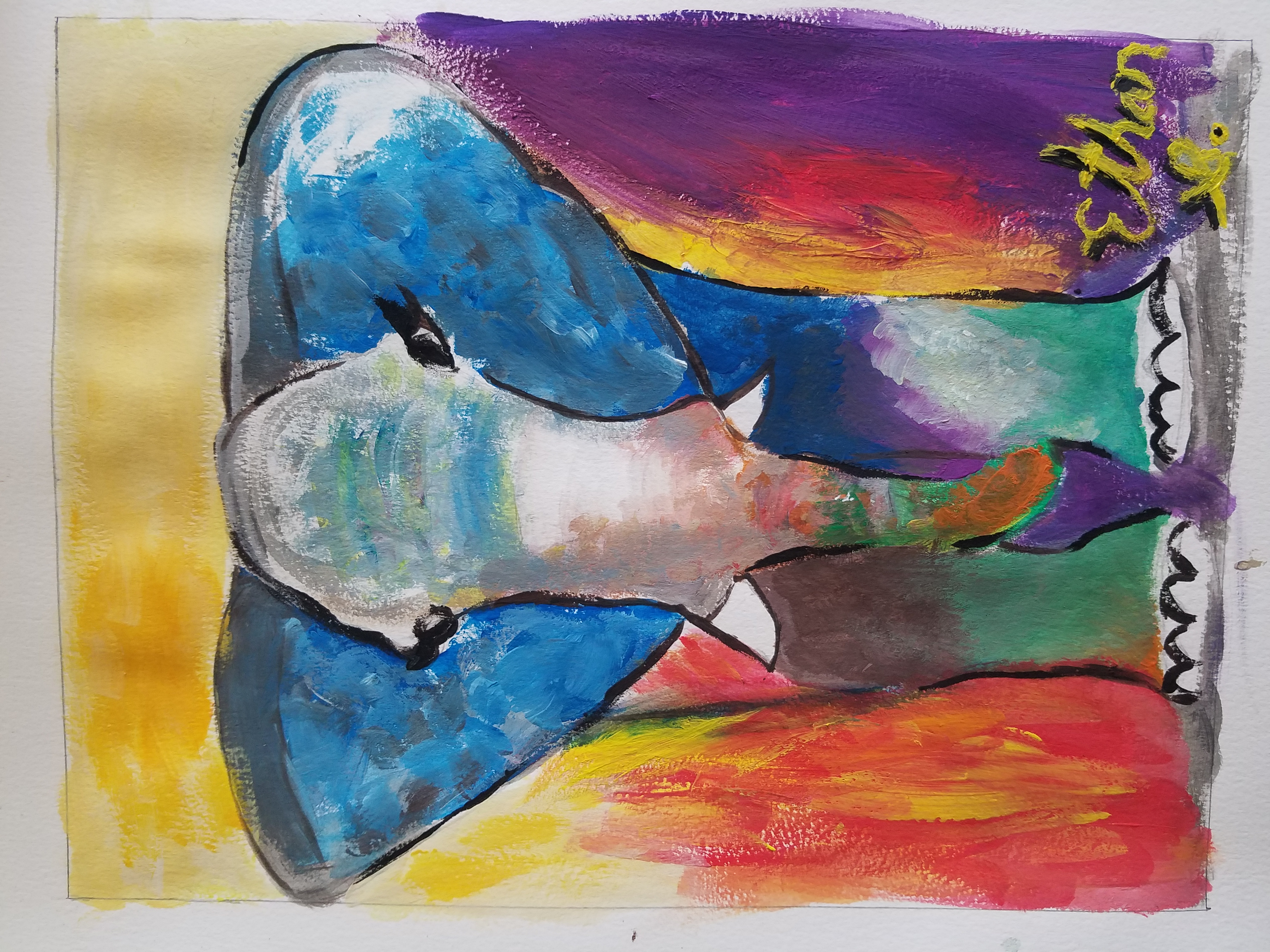 Contemporary Elephant Art By Ethan