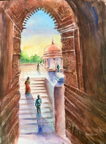 Arched Doorways Of Qutab Minar