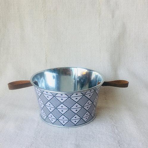 Small Geometric Tin Planter