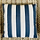 Thumbnail: Navy Striped Outdoor Pillow Cover