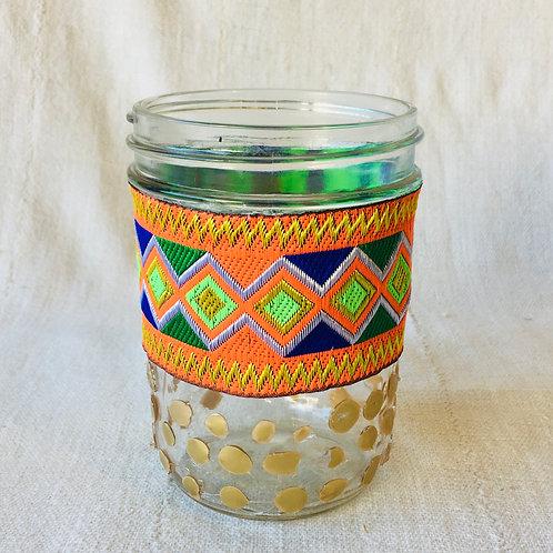 Foiled Mason Jar Vase