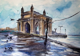 Gateway Of India In A Rainy Day
