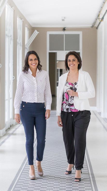 Dra. Cristiane Torres e Dra. Sandra Gioia