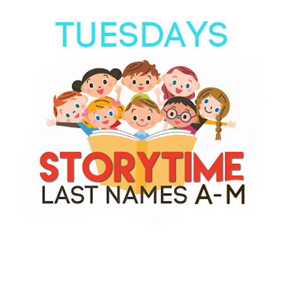 TODDLER STORYTIME (TUESDAYS)