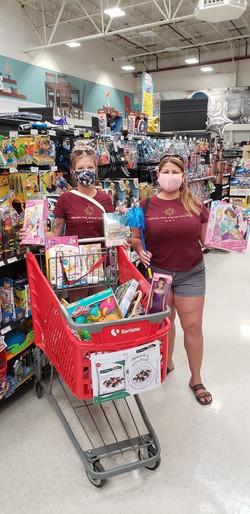 Patty & I toy shopping