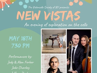 Violoncello Society of New York's New Vistas concert