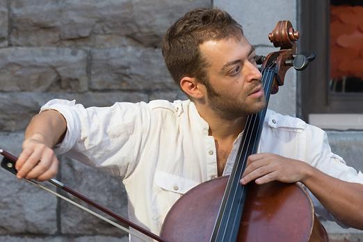 Jake Charkey playing cello
