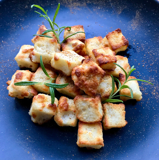 Puffed Cheese Croutons
