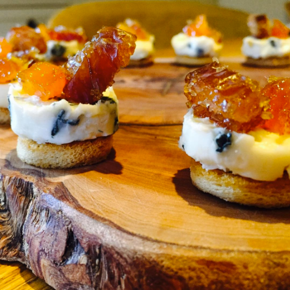 Blue Cheese with Sugared Dates