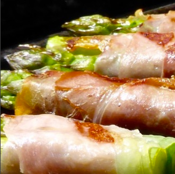 Asparagus with Crispy Parma Ham